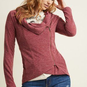 Modcloth Red Airport Greeting Zip Up Cardigan 2X